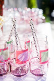 Decorative party glasses Royalty Free Stock Image