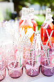 Decorative party glasses Stock Images