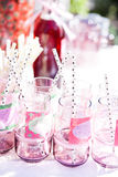 Decorative party glasses Royalty Free Stock Photo