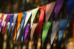 Decorative Party Pennants for Birthday Celebration Royalty Free Stock Photography