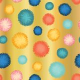 Decorative party pom poms seamless repeat vector vector illustration
