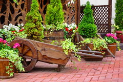 Decorative Patio At The Backyard Stock Photography