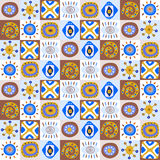 Decorative pattern with African patterns Royalty Free Stock Photo