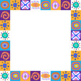 Decorative pattern with African patterns Royalty Free Stock Photography