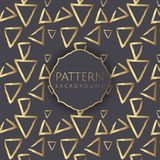 Decorative pattern background 3. Decorative pattern background with gold hand drawn triangles Royalty Free Illustration