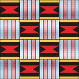 Decorative pattern for the background, tile and textiles. African. Decorative pattern for the background, tile and textiles. It is assembled from modular parts vector illustration
