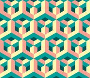 Original geometric magic honeycomb pattern stock illustration