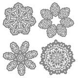Decorative pattern in the circle royalty free illustration