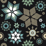 Decorative pattern with contrast elements and black background Stock Image