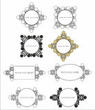 Decorative pattern for design and textdecorativve  Royalty Free Stock Images