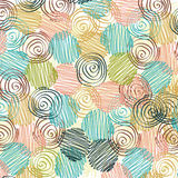 Decorative pattern with drawn circles Royalty Free Stock Photography