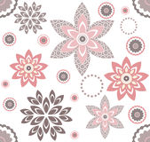 Decorative pattern with elegant floral elements Stock Photography