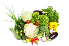 Decorative pattern of fresh vegetables Stock Photos