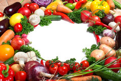 Decorative pattern of fresh vegetables Stock Photo