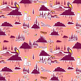Pink decorative pattern illustration Stock Photography