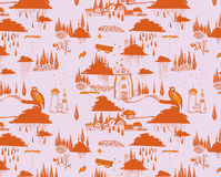 Drawning pattern orange, red & purple Royalty Free Stock Images