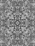 Decorative pattern, interlaced lines, the combination of fragments of images. Royalty Free Stock Images