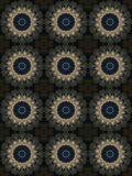 Decorative pattern, interlaced lines, the combination of fragments of images. Royalty Free Stock Photo