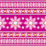 Decorative pattern from jewels Royalty Free Stock Photo