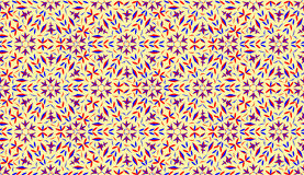 Decorative pattern with light yellow background Stock Image