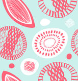 Decorative pattern in scandinavian style. Abstract background with cute shapes Stock Images