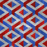 Decorative pattern - seamless background - red-blue USA Colors Royalty Free Stock Photography