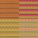 Decorative pattern set Stock Photography