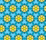 Decorative pattern with stars Stock Image