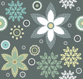 Decorative pattern with stylish floral elements Royalty Free Stock Photography