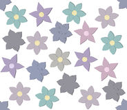 Decorative pattern with stylish flowers. Seamless pattern with stylish flowers for your designs Stock Images