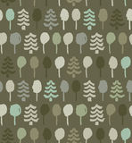 Decorative pattern with trees. Seamless natural texture Royalty Free Stock Photography