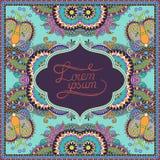 Decorative pattern of ukrainian ethnic carpet Royalty Free Stock Photo