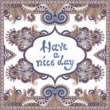 Decorative pattern of ukrainian ethnic carpet Stock Images