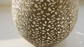 A decorative pattern is on vase stock footage