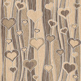 Decorative pattern - waves decoration - Romantic hearts Stock Photos