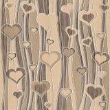 Decorative pattern - waves decoration - Romantic hearts Stock Photos