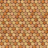 Decorative pattern of wine bottles corks - seamless background. Interior Design wallpaper - wall panel pattern - texture cork Royalty Free Stock Photography