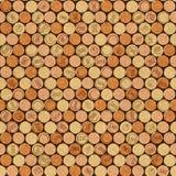 Decorative pattern of wine bottles corks - seamless background Royalty Free Stock Photography