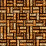 Decorative pattern of wine bottles corks - seamless background. Interior Design wallpaper - wall panel pattern - walnut wood texture Stock Images