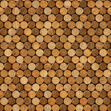 Decorative pattern of wine bottles corks - seamless background. Interior Design wallpaper - wall panel pattern - wood texture Stock Photography