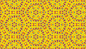 Decorative pattern on yellow background Stock Images