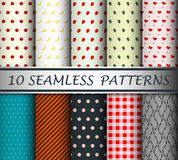 Decorative patterns collection Stock Images