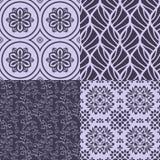 Decorative patterns set Stock Photography