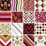 Decorative patterns set Stock Images