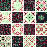 Decorative patterns set Royalty Free Stock Image