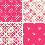Decorative patterns set. Seamless decorative patterns with abstract ornament Royalty Free Stock Image