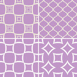 Decorative patterns set. Seamless decorative patterns with abstract ornament Royalty Free Stock Images