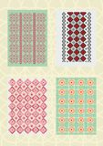 Decorative patterns and standards Royalty Free Stock Image