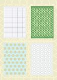 Decorative patterns and standards Stock Photos