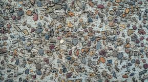 Gravel stones concrete texture colorful background royalty free stock image